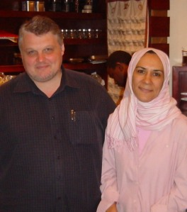 Gary Dale with Diwan Book Store Manager